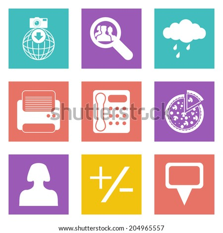 Color icons for Web Design and Mobile Applications set 49.  - stock photo