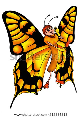 color illustration of a butterfly vain ideal for personalizing tickets - stock photo