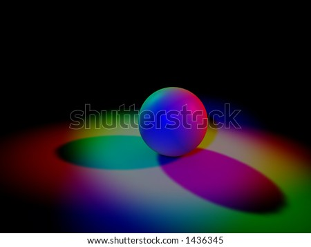 Color lights - stock photo