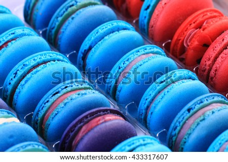 color macaroon as very nice sweet food background - stock photo