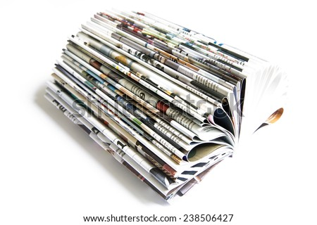 Color magazine isolated on the white background - stock photo