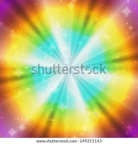 Color magic ring rays abstract - stock photo