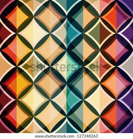 color mosaic seamless pattern (raster version) - stock photo