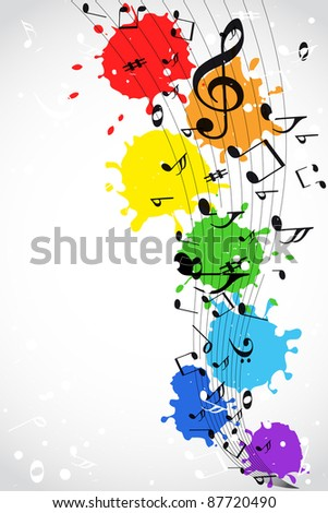 Color music background - stock photo