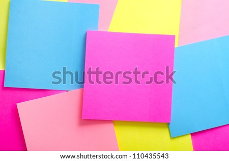 color notes - stock photo