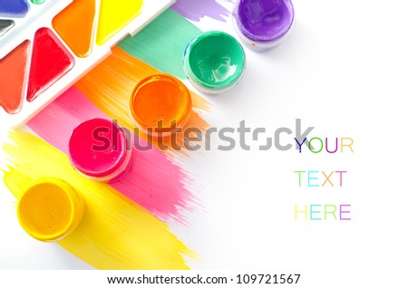 color paint - stock photo