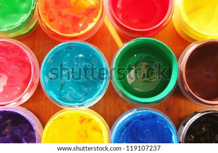 Color paints - stock photo