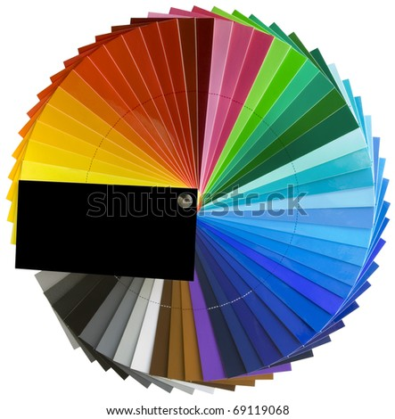 Color palette guide for printing industry isolated with clipping path - stock photo