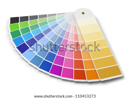 color palette guide isolated on white background - stock photo
