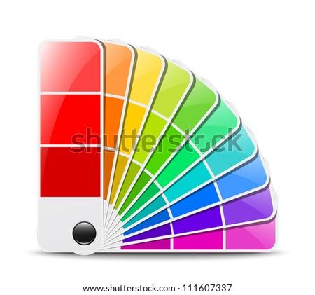 Color palette icon - stock photo