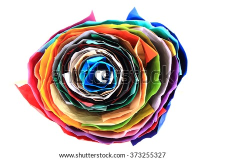 color paper roll isolated on the white background - stock photo