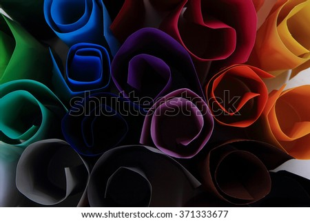color papers as very nice and easy background - stock photo