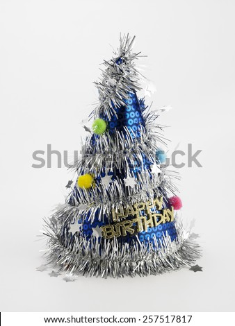 color party hat on the background - stock photo