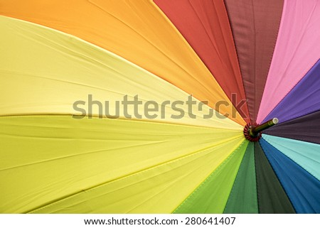 Color pattern of an umbrella - stock photo