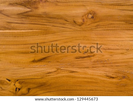 color pattern of teak wood decorative surface - stock photo