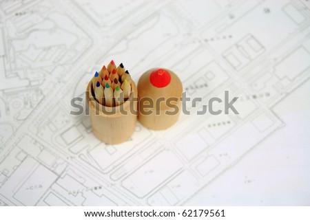 color pencil - stock photo