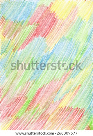 Color pencil background. Watercolor paper crumbly texture. Vertical lines in a white paper. - stock photo