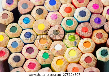 Color pencils close-up photo - stock photo