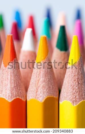 Color pencils. Macro. - stock photo