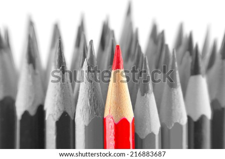 Color pencils, view macro, shallow dof - stock photo