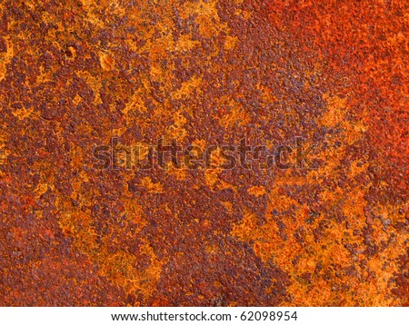 Color photo of old metal surfaces with rust and paint - stock photo