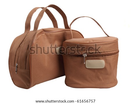 Color photograph of the two travel bags - stock photo