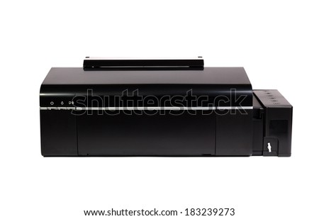 Color Printer isolated on white background - stock photo
