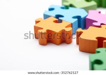 color puzzle - stock photo