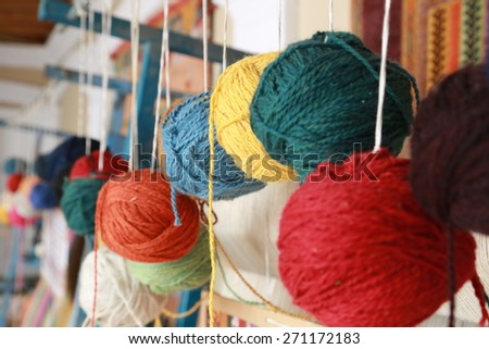 color rope - stock photo