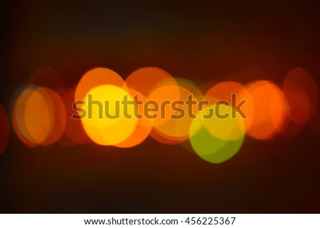 color round bright light spots on  abstract background - stock photo