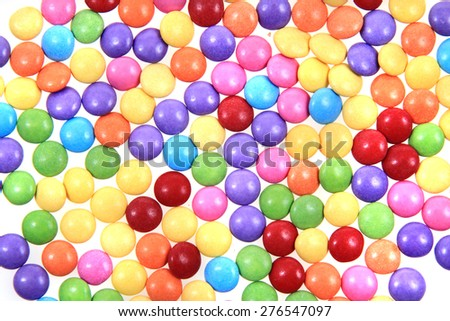 color round candy as sweet sugar background - stock photo