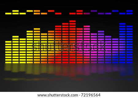 color scale equalizer - stock photo