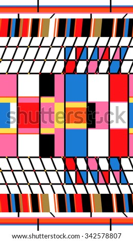 color seamless boxes and lines - stock photo