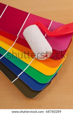 Color Selection For Home Decorating - stock photo
