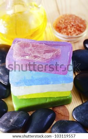 color soap - stock photo