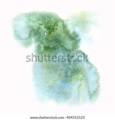 color  spot macro blotch texture green isolated white background - stock photo