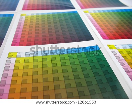 Color swatch - stock photo
