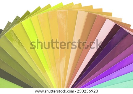 Color Swatch isolated on white background - stock photo