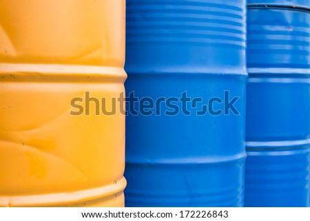 Color tank oil - stock photo