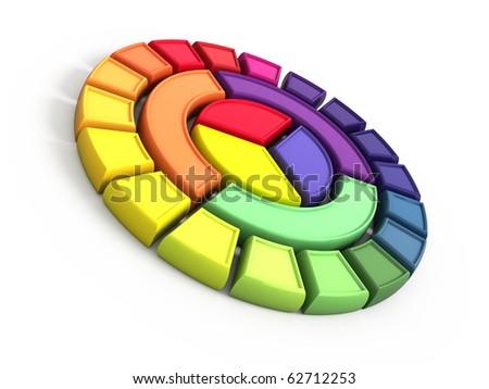 Color wheel - stock photo