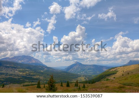 Colorado-Little Molas Trail-part of the Colorado Trail.  This is a spectacular portion of the Colorado Trail at approximately  12,000  foot elevation. - stock photo