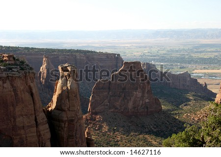Colorado National Monument - stock photo
