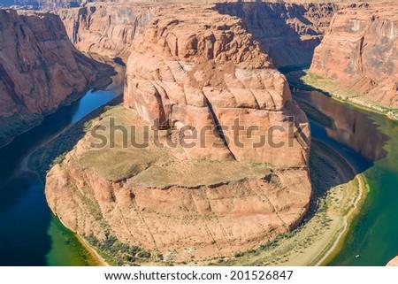Colorado River Horseshoe Bend - Page, Arizona - stock photo