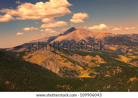 Colorado Rocky Mountains in the Autumn - stock photo
