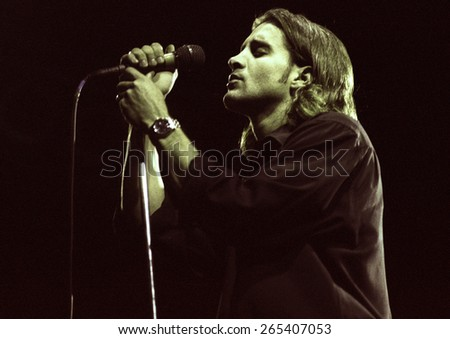 COLORADO SPRINGS, CO.	JULY 17:		Vocalist Scott Stapp of Creed performs July 17, 1998 at Sky Sox Stadium, CO. USA - stock photo