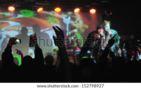 COLORADO SPRINGSNOVEMBER 30:Alternative band the Kottonmouth Kings perform in concert November 30, 2011 at the Black Sheep music hall in Colorado Springs CO. - stock photo