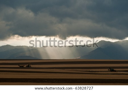 Colorado Storm Over The Foothills - stock photo