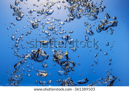colored Abstract underwater with bubbles - stock photo