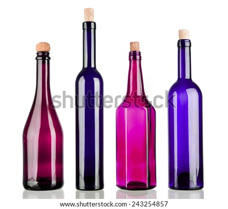 Empty wine bottles stock photos images pictures shutterstock - Empty colored wine bottles ...