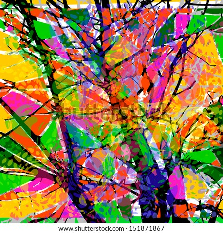 colored an abstract background from paint spots. Raster - stock photo